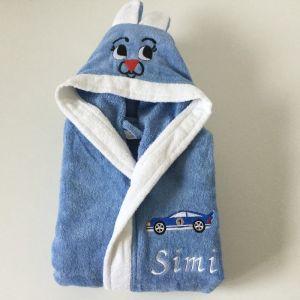 halat de baie albastru baieti