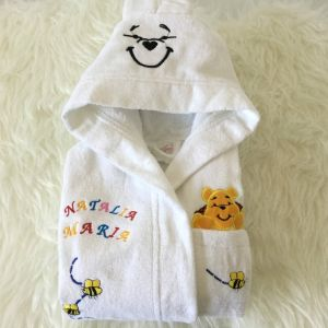 Halat copii personalizat alb