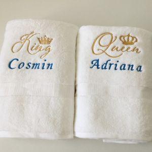 Prosoape personalizate King Queen Cosmin si Adriana