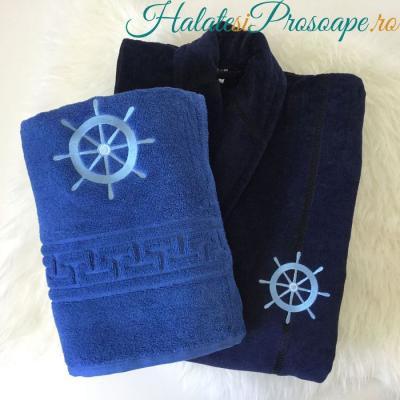 Halate și prosoape personalizate cu motive nautice