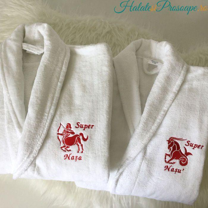 Set halate baie personalizate cu zodiac