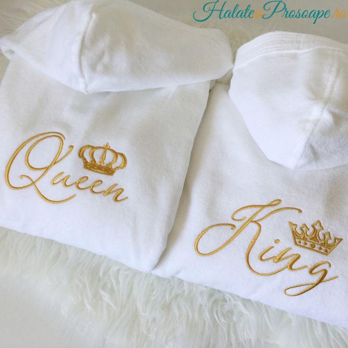 Halate de lux cu gluga King Queen